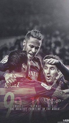 The MSN have scored 100 goals this season alone. Lionel Messi, Messi 10, Messi And Neymar, Messi Soccer, Fc Barcelona Neymar, Barcelona Futbol Club, Barcelona Football, Best Football Players, Football Art