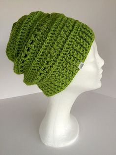 Green slouchy hat Winter slouch beanie Slouchy hat by gremArt