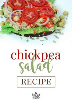 Chickpea Salad Sandwich Recipe via @fivespotgrnvlvng #healthyeating #healthyrecipes #vegetarian #chickpea #veganrecipes