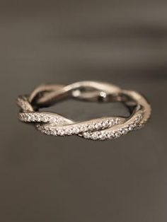 Platinum Double Twist Eternity Band