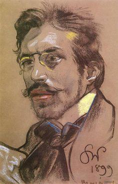 Stanisław Wyspiański, Jerzy Żuławski - portrait, 1899