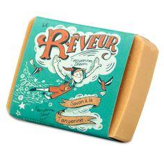 Packaging Savonnerie des Diligences LE RÊVEUR - savon à la tangerine