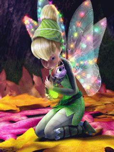 Aurora Rainbow wings Tinkerbell and Bug ✥Whimsical Tinkerbell And Friends, Tinkerbell Disney, Peter Pan And Tinkerbell, Disney Fairies, Hades Disney, Merida Disney, Gif Animé, Animated Gif, Tinkerbell Wallpaper