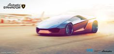 A transport design student, has collaborated with Lamborghini to develop the concept of the car wedge design; through Lamborghini Ganador . Lamborghini Concept, Tail Light, Concept Cars, Industrial Design, Design Elements, Sketches, Vehicles, Sports, Style