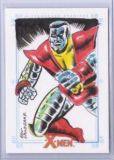 ★ X-Men Archives Sketch Card Colossus (by Ken Landgraf)