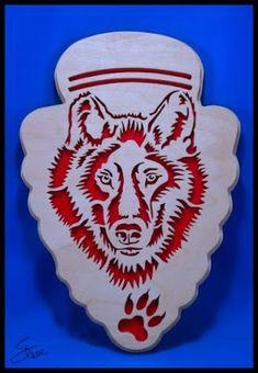 Wolf Arrowhead Scroll Saw Pattern.
