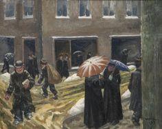 Marcus Collin, Lumiräntää 1937, Öljy kankaalle, Gösta Serlachiuksen Taidesäätiö, 65 x 81,5 cm, Kuva: Tomi Aho