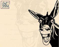 Farm Animals, Funny Animals, Christmas Donkey, The Donkey, Scroll Saw Patterns, Donkeys, Cricut Ideas, Svg File, Cricut Design