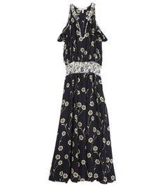 10 Crosby Derek Lam Black Mix Floral Dress