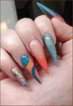 Diva Nails, Glam Nails, Hot Nails, Bling Nails, Nail Swag, Fabulous Nails, Gorgeous Nails, Pretty Nails, Gem Nail Designs