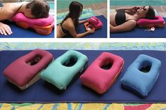 Ideal Two-in-One Massage and Tanning Pillow. I really want one of these!