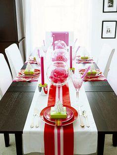 christmas decor/diy | ribbon table runner {bhg}