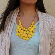 Lemon Drop Necklace #yellow #necklace