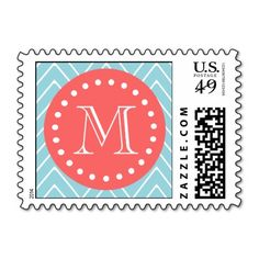 >>>The best place          	Blue and Coral Chevron with Custom Monogram Stamps           	Blue and Coral Chevron with Custom Monogram Stamps in each seller & make purchase online for cheap. Choose the best price and best promotion as you thing Secure Checkout you can trust Buy bestReview       ...Cleck Hot Deals >>> http://www.zazzle.com/blue_and_coral_chevron_with_custom_monogram_stamps-172580532962145096?rf=238627982471231924&zbar=1&tc=terrest