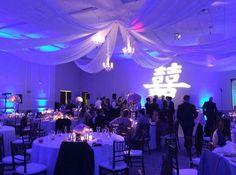 Dallas Wedding Drape, Decor, Windsor at Hebron Park, Randy Ro Weddings, Ceiling Drape and Chandeliers