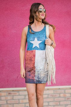 Hey Ya'll Festive Tank Dress (Navy) Talk about a 4th of July Dress, or just an everyday dress if you live in Texas. Get yours before they are gone!!