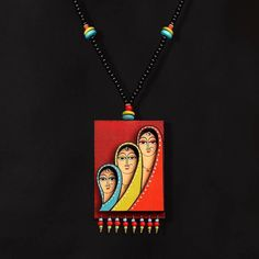 Unique Handcrafted Artisan Jewelry By Independent Jewelry Designer Wooden Jewelry, Clay Jewelry, Jewelry Crafts, Jewelry Art, Beaded Jewelry, Leather Jewelry, Diy Fabric Jewellery, Collar Hippie, Teracotta Jewellery