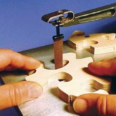 Scroll Saw Sanding Belts easily smooth the edges of scroll saw projects in wood,. - Scroll Saw Sanding Belts easily smooth the edges of scroll saw projects in wood, plastic, metal and - Woodworking Shop, Woodworking Crafts, Woodworking Plans, Woodworking Patterns, Woodworking Jigsaw, Youtube Woodworking, Woodworking Supplies, Woodworking Classes, Woodworking Videos