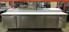 "110"" Commercial Refrigerated Pizza Prep Table"