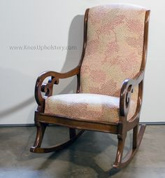 Beautiful Upholstered Rocking Chair. Join Us On Facebook: Https://www.facebook
