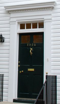 Colonial Exterior Door Styles - The past several years have noticed a huge increase in the amount of reported burglaries and Colonial Front Door, Front Door Trims, Colonial Exterior, House Front Door, Exterior Trim, Front Door Colors, Front Door Decor, Exterior Doors, Front Porch