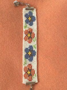 Loom Bracelet Patterns, Bead Loom Patterns, Loom Bracelets, Beaded Jewelry Designs, Diy Jewelry, Jewelry Making, Hama Beads, Seed Beads, Peyote Stitch