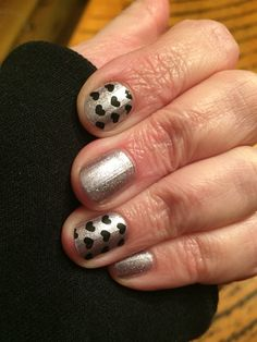 Mixed Jamberry manicure of So Presh lacquer with Pop Heart clear nail wraps. -Emily Nelson-Jamberry Independent Consultant