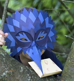 Discover recipes, home ideas, style inspiration and other ideas to try. Book Costumes, Carnival Costumes, Masquarade Mask, Safari Costume, Felt Crafts, Paper Crafts, Origami, Cardboard Mask, Baby Wall Decor