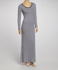 Take a look at this Black & White Stripe Maxi Dress on zulily today!