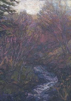 Thomas Paquette, Up the Creek, 8 3/4 x 6 1/4 inches, oil on panel