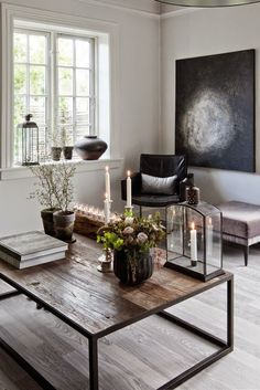 Modern And Industrial Danish Home With Dramatic Touches | DigsDigs