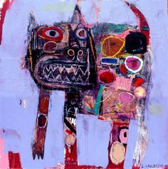 "morna:  "" I love this cat, wonder if he says MEOW. :-)  artistjournals:  "" Lyle Carbajal  "" """