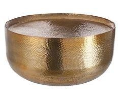 Salontafel, Kamila, goud, Ø 72 cm
