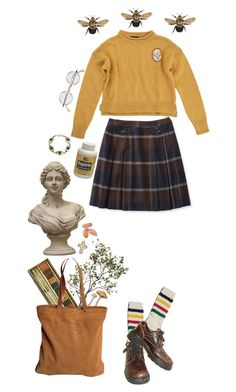 """Bright"" by thewitchishere on Polyvore featuring mode, Crate and Barrel, Tory Burch, Pendleton, Dr. Martens, Topshop et Del Gatto"