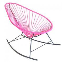 Ma sieste dans un rocking chair on pinterest rocking for Schaukelstuhl pink