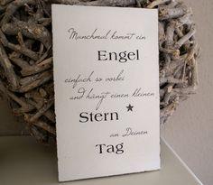 """Schild Holz """"Manchmal kommt ein Engel ..."""" Shabby von white-living-art auf DaWanda.com"""