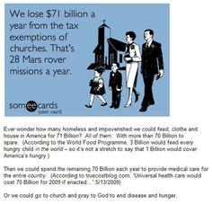 Tax the churches!