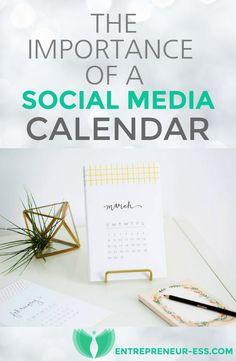 The importance of a Social Media Calendar - Read my latest blog post here: http://entrepreneur-ess.com/the-importance-of-a-social-media-calendar/ #socialmedia #calendar #planning #facebook