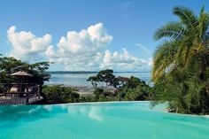 Infinity in turquoise at Fundu Lagoon Lodge, Tanzania.