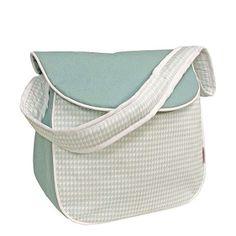 Houndstooth Aqua Messenger Style Diaper Bag by Hoohobbers = $84
