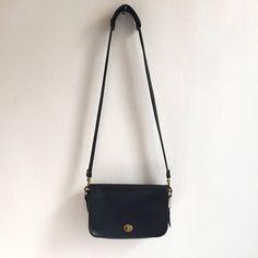 7691171ac5 Coach Made in USA   Black Coach Bag   Vintage Leather Handbag
