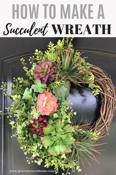 How to Make a DIY Succulent Wreath With Artificial Succulents