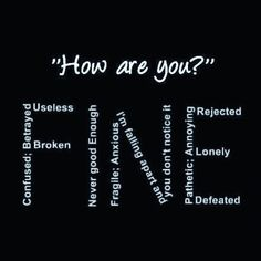 "How many times have you said ""I'm fine"" without even registering what you've said. Im Okay Quotes, Done Trying Quotes, Im Tired Quotes, Losing Faith Quotes, Uplifting Quotes, Inspirational Quotes, Without You Quotes, Fine Quotes, Mistake Quotes"