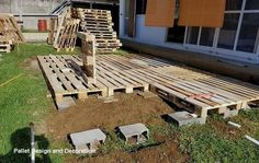 DIY Wooden Pallets Garden Deck Plan Want to see your dream house in reality? There is no substitute of DIY wooden pallets garden deck ideas. Wooden garden deck plan boost up your level of…