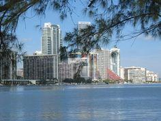 Brickell neighborhood as seen from Rickenbacker Causeway (Miami, Florida)