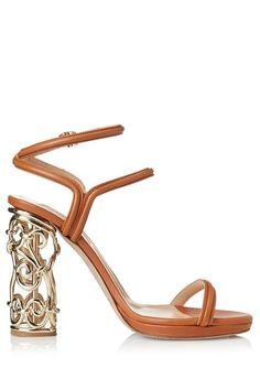Valentino Sandal with Metal Heel