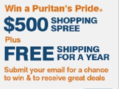 Puritan's Pride $500 Gift Card Spring Sweepstakes