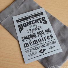 DIY : des pochettes en tissu - merci maîtresse