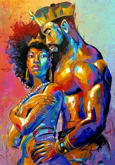 art pictures African King and Queen Shower Curtain Black Girl Art, Black Girl Magic, Art Girl, Black Couple Art, Black Couples, Black Man, Pinterest Arte, Creation Art, Black Art Pictures