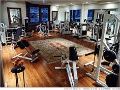 Madison Square Club. 25K/yr for unlimited training sessions, $125/monthly dues.  More like the anti-gym, David Kirsch's Madison Square Club, with its oriental rugs and soft lighting, is intimate and serene. It has 500 members, but only six are permitted to work out with a trainer in the club at one time